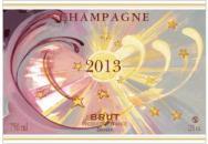 étiquette de champagne mariage